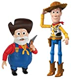 Disney Pixar Toy Story Woody's Round Up Classic Pack with 2 Movie Character Figures, Woody and Stinky Pete Prospector, Kids Gift Ages 3 Years & Older