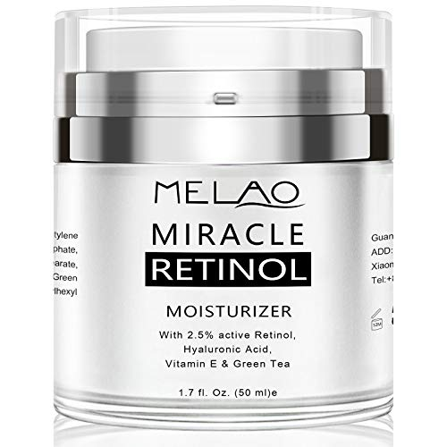 Retinol Cream, Face Moisturizer for Women, Face Cream for Anti Aging Acne Dark Spot Wrinkle Natural and Organic Night Cream with 2.5% Retinol Complex and Hyaluronic Acid - 1.7oz