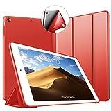VAGHVEO Funda para iPad Mini, Slim Fit Ligera Función de Soporte Protectora Suave TPU Carcasa [Auto-Sueño/Estela] magnético Smart Cover para Apple iPad Mini, iPad Mini 2, iPad Mini 3, Rojo