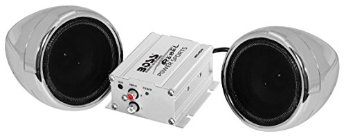 Boss Audio Systems MC400 Motorcycle Speaker System - Class D Compact Amplifier, 3 Inch Weatherproof...