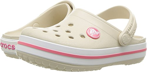 crocs Unisex-Kinder Crocband K Clogs, Stucco/Melon, 20/21 EU