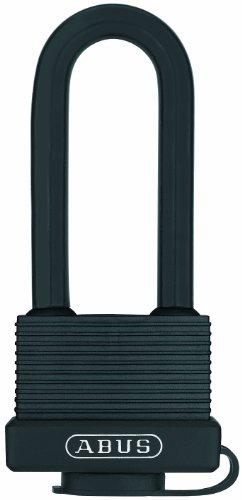 ABUS 32131 Messing-Hangschloss, Messingbügel, 45mm / Bügelhöhe 63mm, verschiedenschließend, schwarz