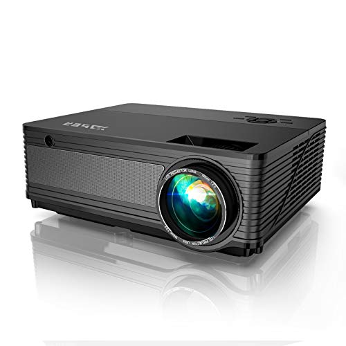 YABER Y21 Native 1920 x 1080P Projector 6800 Lux Upgrad Full HD Video Projector, ±50° 4D Keystone Correction Support 4k&Zoom, Outdoor Projector Compatible w/ TV Stick,HDMI,Xbox,Phone,PC