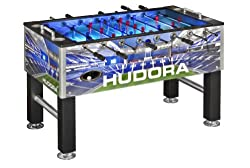 HUDORA Kickertisch Neapel (71482/01), beleuchtete Spielfläche