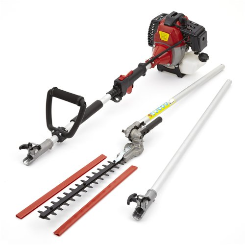 Petrol Extended Long Reach 3m Hedge Trimmer - Ideal for Trimming, Pruning, Cutting Shrubs, Bushes, Hedges, Branches - Cordless, Air-Cooled Vertical Cylinder, Automatic Transmission - 52cc, 2.2KW & 3HP