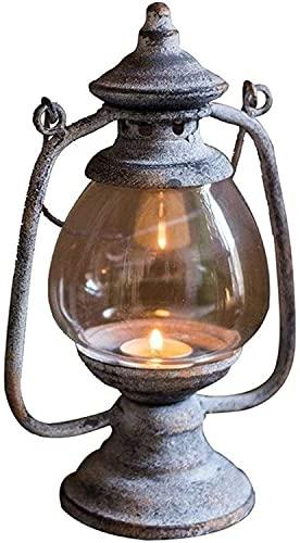 HJW Nattlampa för läsning vintage ljushållare värmeljushållare, lampmodell, nostalgisk heminredning bordslampa