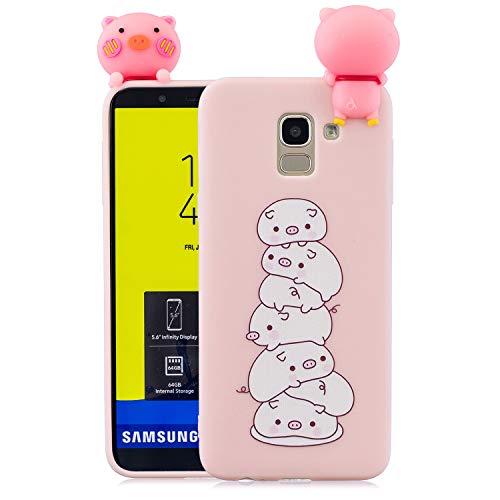 Coque Samsung Galaxy J6 20183D Silicone TPU Gel Chien Coque Bumper Housse Etui pour Galaxy J6 2018