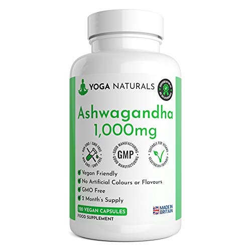 Ashwagandha 1000mg | Premium Natural Supplement | 120 Vegan Capsules | 2 Month Supply | UK Manufactured by Trusted Brand | Ashwagandha Capsules | Ashwaghanda UK | Ashwagandha Powder