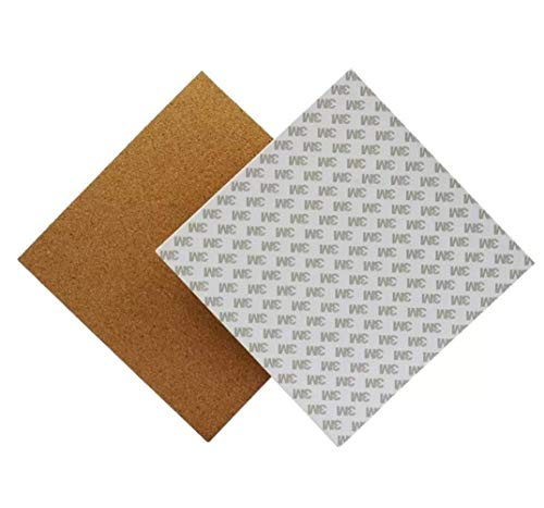 GzxLaY 3D Printer Computer Accessories, Heated Bed 300 300 3mm Hotbed Thermal Pad Insulation Cotton with Cork Glue for 3D Printer Reprap Ultimaker Makerbot