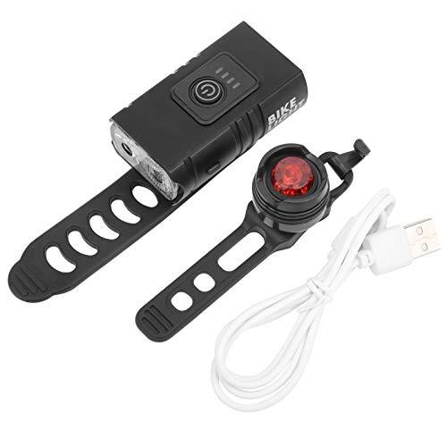 Bnineteenteam Luces de Bicicleta Recargables USB, Luces Delanteras de Bicicleta y Luces traseras Accesorio para Bicicleta