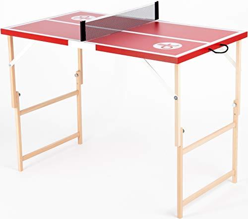 DISH TENNIS Mini Tischtennisplatte rot Die Scharfe Chilly