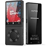 AGPTEK Bluetooth MP3 Player with Speaker, 8GB Metal Lossless Music Player Supports FM Radio Recording, Expandable Up to 128GB, Black M6S
