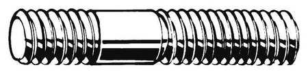 M10-1.5 x 47 mm Plain Steel Double End Threaded Studs, 100 pk.