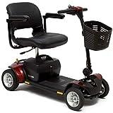 CHAIR Silla de ruedas, silla de rehabilitación médica para personas mayores, personas mayores, Pride Mobility GoGo Elite Traveler Plus Scooter eléctrico liviano para adultos, rojo,rojo