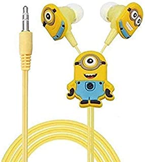 Improvhome Meecase Minions In-Ear Wired Earphone With 3 Additional Earplug Covers