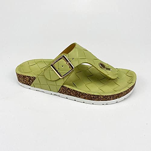 COQUI Zapatillas casa,El Personaje de Las Mujeres arrastró el Suelo Suelto Playa de la Moda cómoda Zapatillas-Verde_38