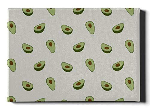 JEOLVP Wanddekoration für die Küche Avocado Cartoon Obst Wohnzimmer Leinwand Wandkunst 30 x 40 cm (12 x 16 Zoll) Dekor Wandfarbe Wandkunstwerke Bilder hängen im Wohn- oder Schlafzimmer nach Hause