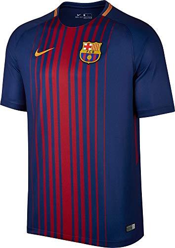 Nike 2017-2018 Barcelona Home Football Soccer T-Shirt Trikot (No Sponsor)