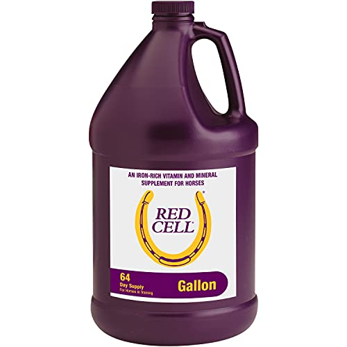 Horse Health Red Cell Vitamin-Iron-Mineral Supplement for Horses, An iron-rich vitamin and mineral supplement, 1 Gallon / 128 Ounces 64 Day Supply