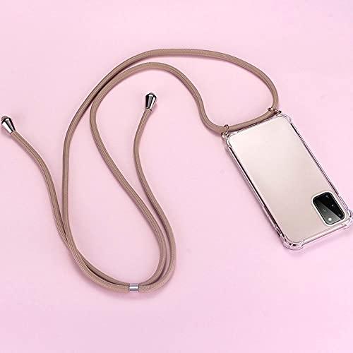 Custodia per telefono in silicone con cordino di lusso per Samsung Galaxy S21 S20 S10 S9 S8 Nota 20 10 9 8 Lite Plus Custodia in corda per collana ultrasottile, 1, per Galaxy A51 5G