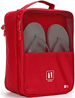 Lonoo IPRee Polyester Waterproof Shoe Bag Handle Cubes Tote Box Case Storage for 3 Pairs of Shoes