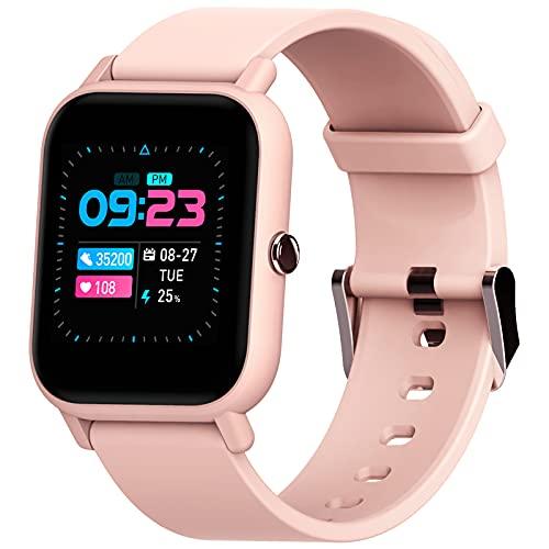 Blackview R3 Smartwatch con Oxímetro de Pulso (SpO2) | Esfera de Reloj de DIY | Pulsometro | Caloría | Podómetro | 12 Deporte, Relojes Inteligentes Hombre y Mujer para Android e iOS (Versión M