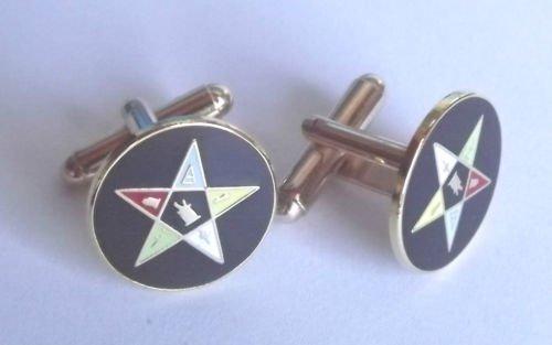 Avec symbole franc l'ordre de boutons de manchette en forme d'étoile Taille L