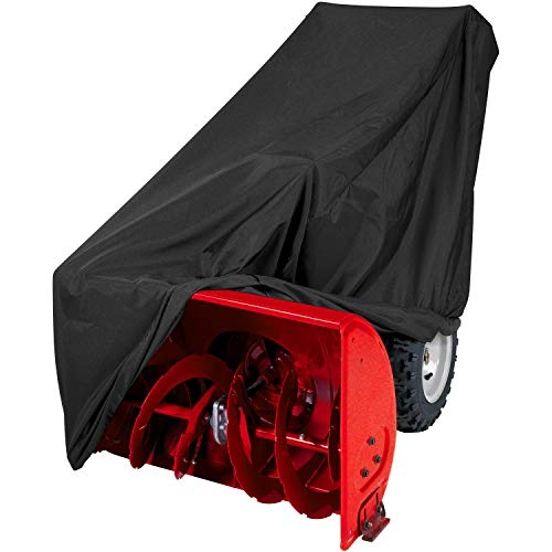 Black 82 L x 50 W x 47 H North East Harbor Superior Riding Lawn Mower Tractor Cover Fits Decks up to 62 300D Polyester Oxford PU Coated Water and UV Resistant Storage Cover