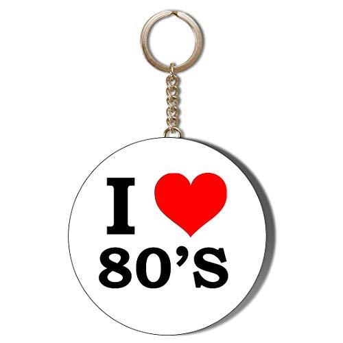I Love the 80s Keyring and Bottle Opener