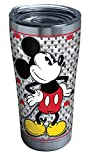 Tervis 1292884 Disney-Mickey Mouse Tumbler with Clear and Black Hammer Lid, 20 oz Stainless Steel, Silver