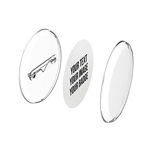 Buttons 30mm selber machen ohne Buttonmaschine (10 Stück) – Ansteckbuttons Set mit Nadel-Pins und A4-Buttonpapier