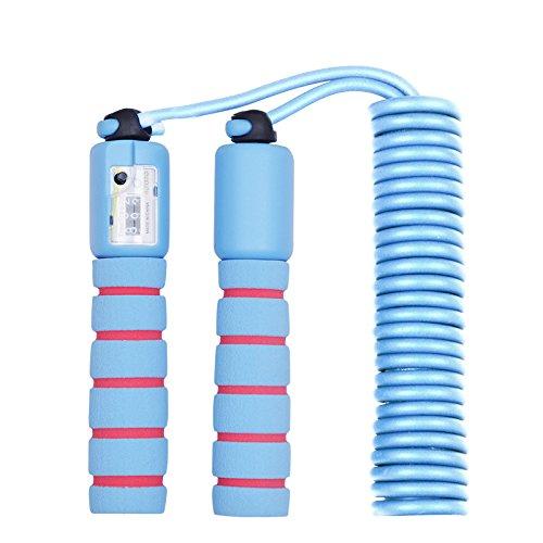 Micacorn Springseil,Länge Einstellbar Rope für Training, Fitness,Abnehmen für Kinder und Erwachsene(Sky blue)
