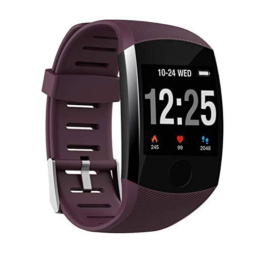 FBN Smart Watch Wasserdicht Großer Touchscreen OLED Nachricht Herzfrequenz Zeit Smart Band Fitness Activity Tracker Armband Armband,E