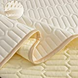 Grin Health Ultra Luxury Natural Latex Layer Mattress Top with 2 Pillow Cases Comfortable Rebound...