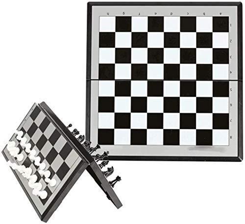Juego de ajedrez Juegos l Adultos Niños Tablero de ajedrez Ajedrez magnético Juego de tablero plegable con ranuras de almacenamiento de piezas de juego, Portátil l Juegos de tablero de ajedrez, 3-Siz