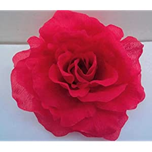 Silk Flower Arrangements Artificial and Dried Flower 100pcs 12cm Diameter Artificial Flower Single Open Peony Rose Camellia Flower Heads for Wedding Christmas Party Decoration - ( Color: Red )