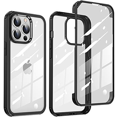 【両面!全面保護!】McDuLL iPhone 13 Pro Max 用 ケース 6.7 インチ 360度保護 両面9H強化ガラス+TPUバン...