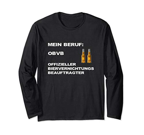 Bier Spruch Lustig Gerstenkaltgetränk Hopfentee Flüssigbrot Langarmshirt