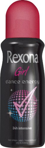 Rexona Girl Dance Energy Desodorante Spray, 3 Pack (3 x 150 ml)