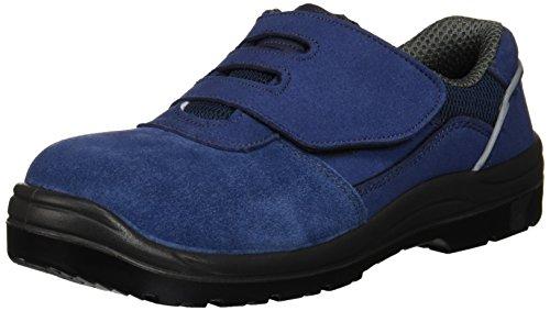 [AITOZ]アイトス 59822_008 22cm セーフティーシューズ 作業靴 スエード 樹脂先芯 JSAA A種 ウレタン底 耐油 耐滑 静電 マジックテープ 3E ネイビー