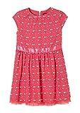 s.Oliver Mädchen Festliches Kleid mit Satinblende pink AOP 98.REG