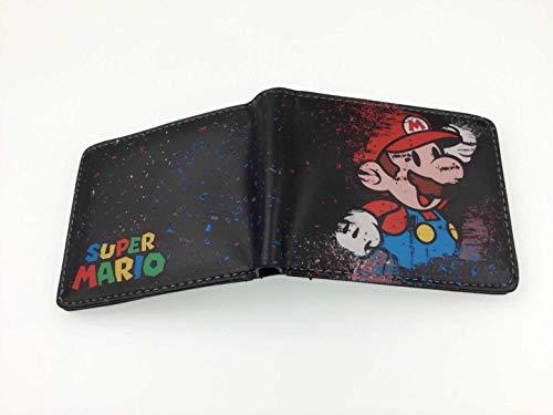 Super Mario Monedero Super Mario Super Mario Cartera Anime Perifrico Super Mario Short PU Cartoon Wallet