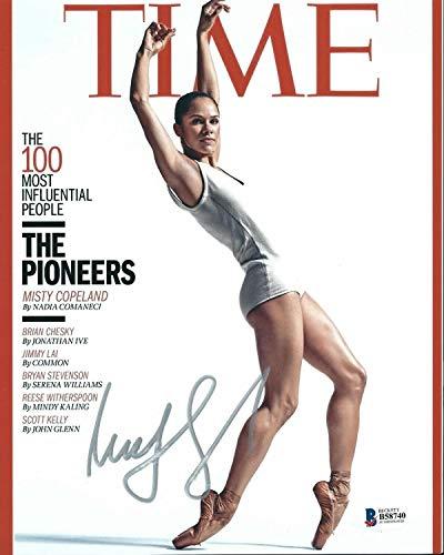 Misty Copeland Autographed Signed Time Magazine 8X10 Photo Beckett