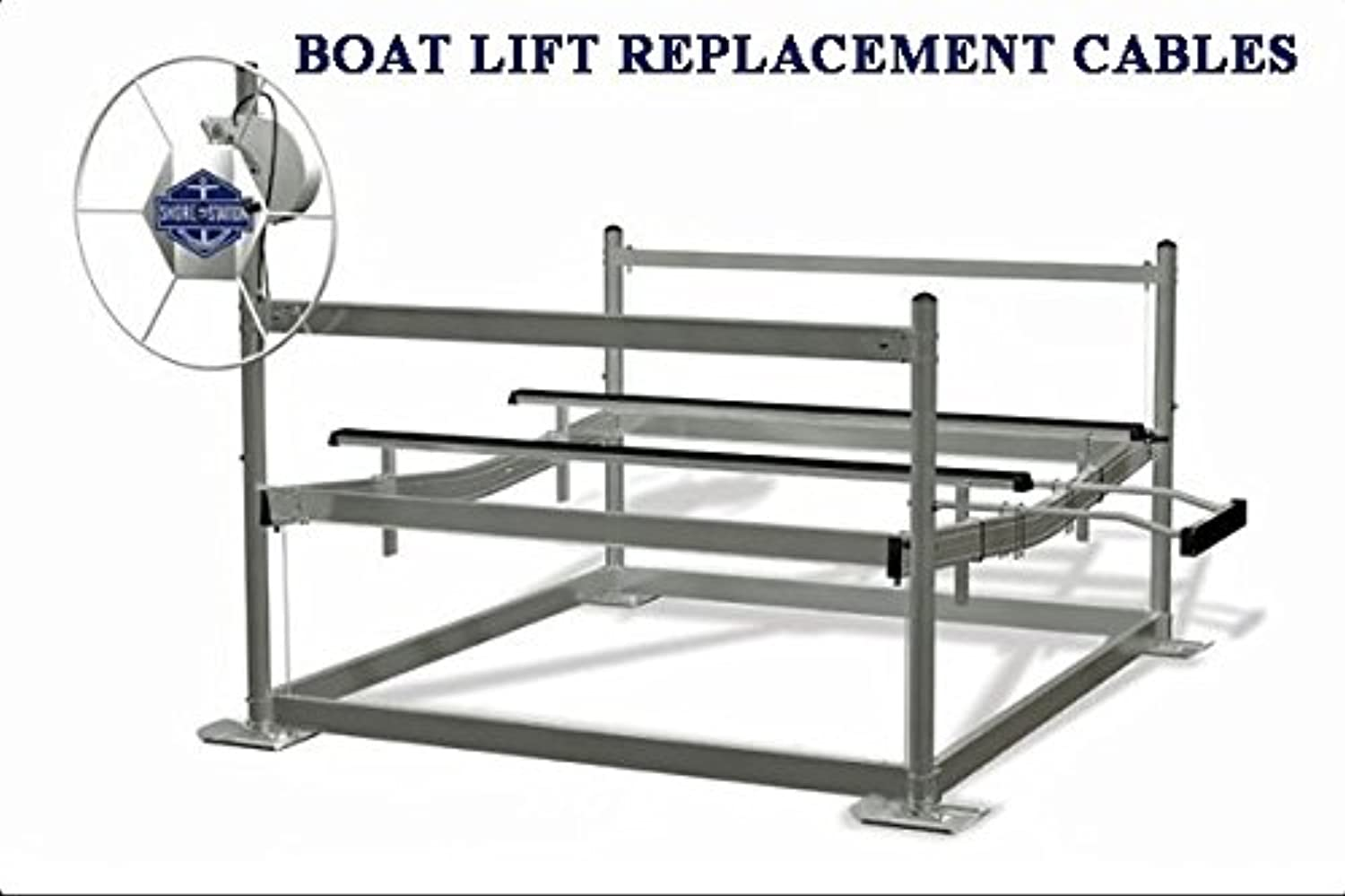 Boat Lift Model SSV40108 Replacement Stainless Steel Cable Package (All 4 Cables included) for Shorestation Lift