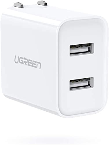 high quality UGREEN online USB Charger 3.1A Dual Port Wall Charger Power Adapter with Foldable Plug for iPhone 12 Mini 12 Pro Max 11 Pro XR Xs Max X 8 7 6S online sale BLU Moto E6 LG Google Pixel Galaxy A10 A20 outlet online sale