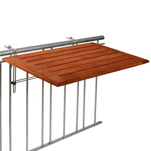 Videx-Balkonklapptisch, Bambusholz, 40 x 60cm