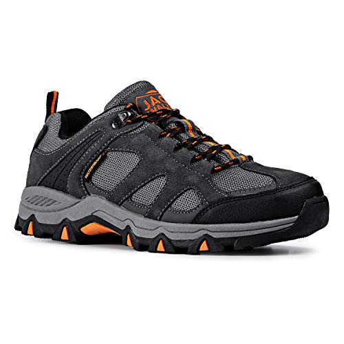 Hombres Zapatillas Senderismo Trail Mount Low Zapatillas Impermeable De Senderismo Trekking para Hombre ventilación de Baja Altura JW010 Jack Walker (41 EU)