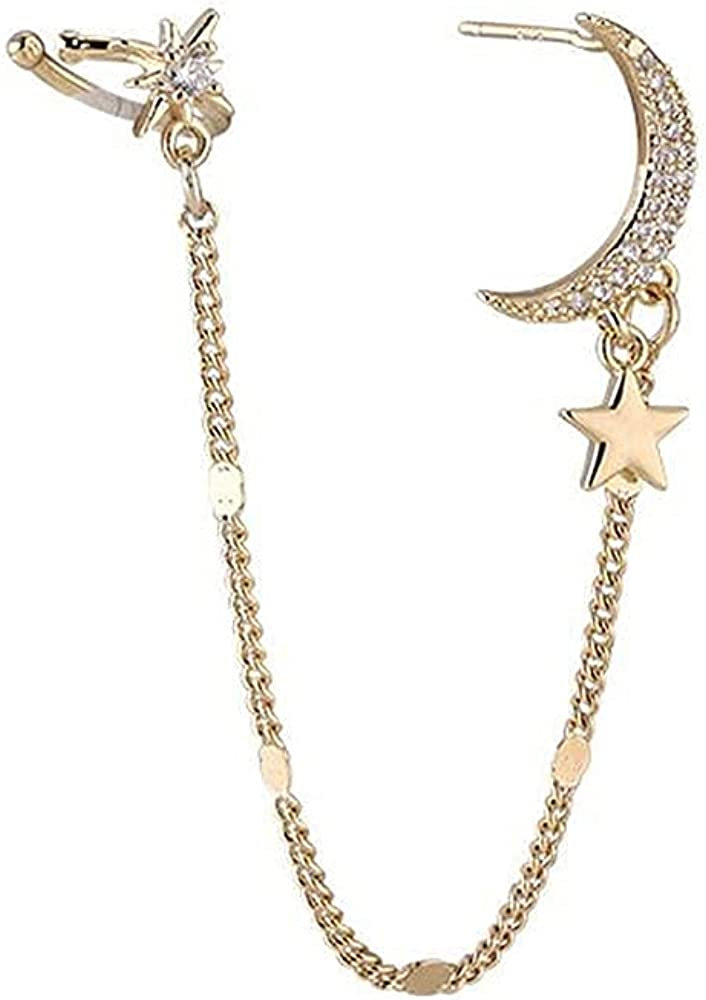 Women Earring with Cuff At the price of surprise Chain Ear Girls Max 79% OFF for Wraps Clips