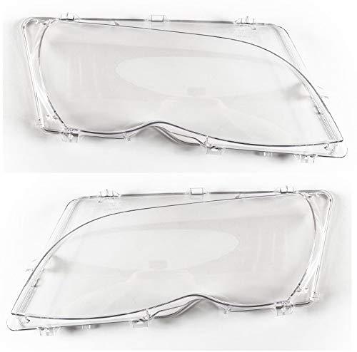Streuscheiben Set Scheinwerferglas rechts links 3er E46 Limo Touring ab Bj 01 Facelift mit Gummidichtung