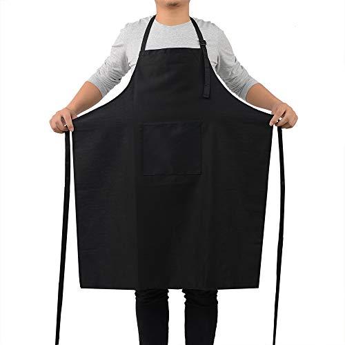 ROTANET Kitchen Apron Chef Cooking Large Grill BBQ professional Crafting Basic Women Men Black 1 PCS